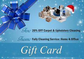 Gift Card 20 % OFF Professional Carpet & Upholstery Cleaning
