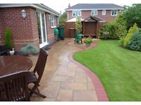 Patios, Natural stone and decorative slabbing, Block paved Driveways, Artificial Grass and Gardens