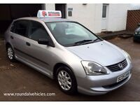 VERY CLEAN 2005 Honda Civic 1.4 i E 5dr, Silver, 85k, Bargain Trade Car To Clear!
