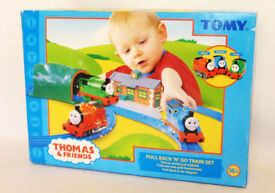 Thomas the Tank engine PULL BACK AND GO Used set Boxed ,