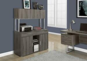 """CREDENCE - 48""""L / STYLE VIEUX BOIS TAUPE FONCE"""