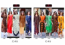 RAGGA C4U HEAVY REYON AND DYED CLASSICLE LONG STYLE KURTI CATALOGUE ONLINE TRADER
