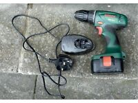 SOLD!! Bosch Cordless Drill with battery and 13 amp charger SOLD!!