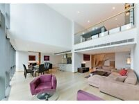 Vacant, Furnished, Luxury, Duplex, Penthouse 3 beds 3Baths with amazing View in Canary Wharf E14 MB