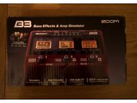 Zoom B3 Bass Multi Efects Unit - mint condition!