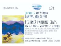Canvas and Coffee - beginner painting class - September 5th