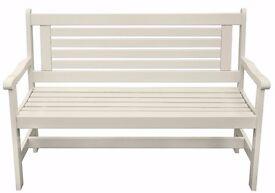 Brand new white garden bench