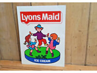 LYONS MAID ICE CREAM GOOD TIME dancing children sweet shop sign original 3 images