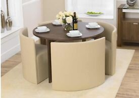 Hideaway dining table and 4 chair set