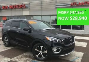 2017 Kia Sorento EX TURBO -AWD  EXECUTIVE DEMO - $6455 SAVINGS!