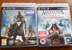Destiny and Assassins Creed Brotherhood ps3 games PlayStation 3