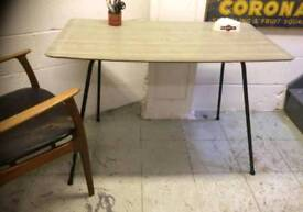 FORMICA 1950S DINING TABLE GREY