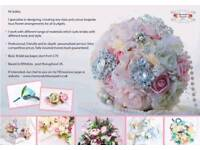Artificial flower bouquet arrangements for weddings and funerals