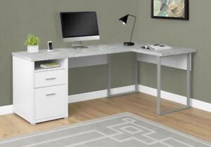 """Bureau en """"L"""" d'ordinateur pupitre 4 choix de couleurs"""