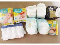 Newborn bundle - Pampers nappies,Tommee Tippee breast pads