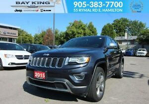 2015 Jeep Grand Cherokee LIMITED 4X4, BLUETOOTH, GPS NAV, LEATHE