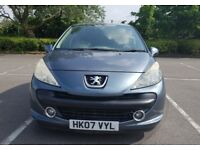 2007 PEUGEOT 207 1.6 VTI FULL AUTOMATIC EXCELLENT ENGINE AND AUTOMATIC GEARBOX HPI CLEAR LOW MILEAGE