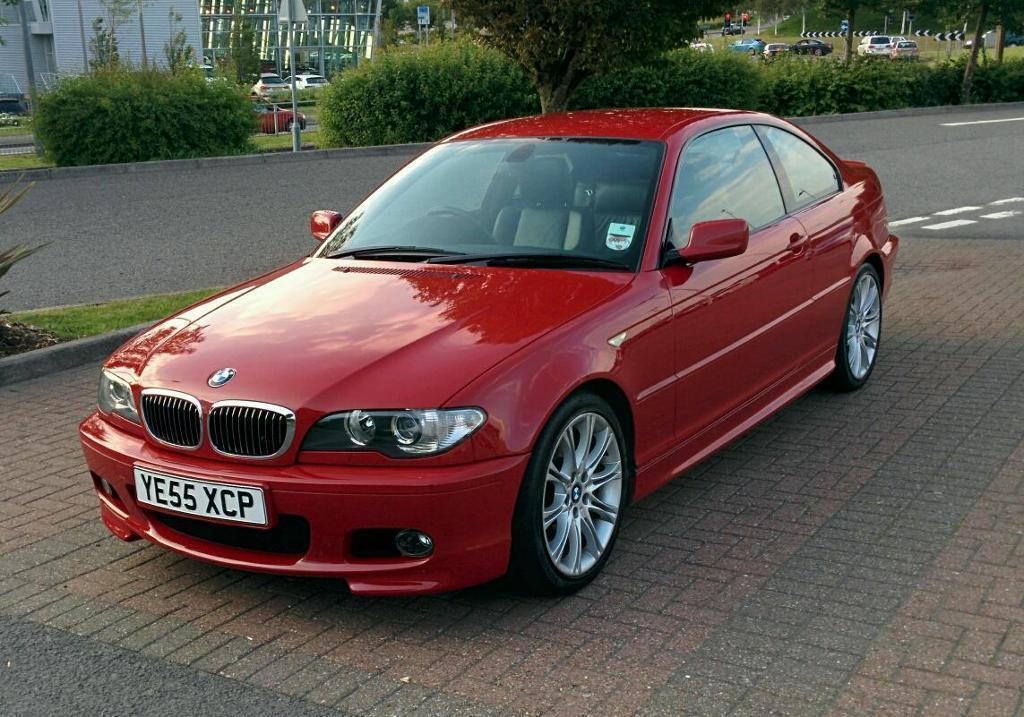2005 Bmw 330cd 330d Imola Red E46 M Sport In Bristol