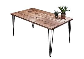 FAST TURN AROUND Kitchen Dining Table Handmade Industrial Style Furniture Reclaimed Wood