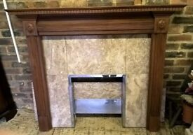 Fireplace Mantle Hearth and Surround reclaimed