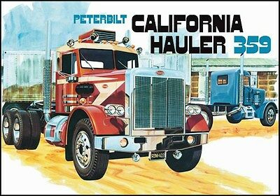 AMT Peterbilt 359 California Hauler 1/25 Scale Truck Model Kit NEW