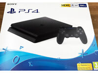 Playstation 4 Slim 500 GB Console Black With 3 Games Nearly NEW!