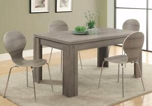 MEUBEL.CA $498 - DARK TAUPE DINING TABLE