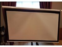80inch Home Cinema Projector screen, ceiling or wall mountable
