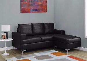 MEUBEL.CA  $499 - SOFA LOUNGER – BLACK BONDED LEATHER