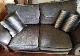 2 Seater Sofa. Grey/Black