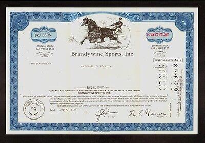 Brandywine Sports Inc Wilmington DE - Horse / Harness / Sulky Racing