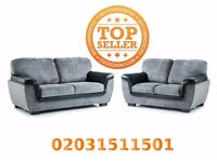 LAZAR 3 and 2 seater CREAM&BROWN OR GREY&BLACK settee, couch