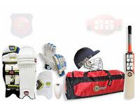 Cricket gear FULL Kit Bats Wheelie Bag Pads Helmet Gloves Whites Clothing Brand New or Used BATS Bag