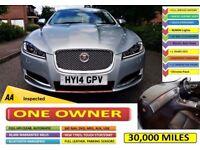 2014 Jaguar XF ***30,000 MILES***ONE OWNER***FULL LEATHER***SAT NAV*** AUTOMATIC*** LONG MOT*** ! XE