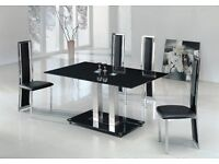 Glass dining table 89 x 160 clear glass
