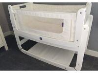 Snuzpod Bedside Crib 3 in 1 white