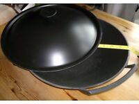 Large Cast Iron Le Creuset Wok