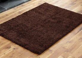 New two tone shaggy Rug Chocolate brown other colours available