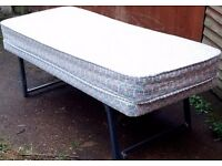 EXCELLENT PULLOUT SPARE FOLDABLE TRUNDLE SINGLE BED AND MATTRESS - QUICK SALE - £40 ONO