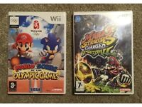 Nintendo Wii Mario & Sonic At The Olympic Games & Mario Strikers Charged Football