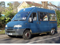 Peugeot Boxer Self Built Campervan, 2 berth, ready for the road, MOT to 20/7/2018 (no advisories)