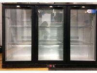 HX301 Hinged TRIPLE DOOR COOLER - BLACK Brand new one year guaranty