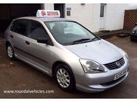 VERY CLEAN 2005 Honda Civic 1.4 i E 5dr, Silver, 85k, Bargain Trade Car To Clear!