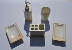 Bathroom soap dish set, 5 pieces