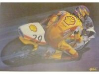 2 British motor biking legends in their own right and 2 unique colour prints.
