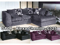 Fabric Corner Sofas, Couches and Settees Brand New, Foam Filled Free FAST Delivery