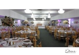 Flowerwall, Lights, Chiavari Hire, LED Backdrop, Throne Chair, Table Linen, Chair Cover, Centrepiece