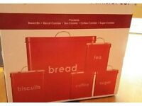 Bread Bin and Cannister Set (5 piece) BRAND NEW