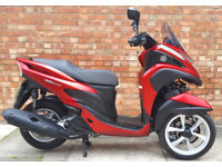 Yamaha Tricity 125cc (66 REG) RED, Immaculate condition, Only 600 miles!