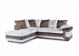 ** 1 YEAR WARRANTY** BRAND NEW MAX CRUSH VELVET CORNER OR 3+2 EXPRESS DELIVERY
